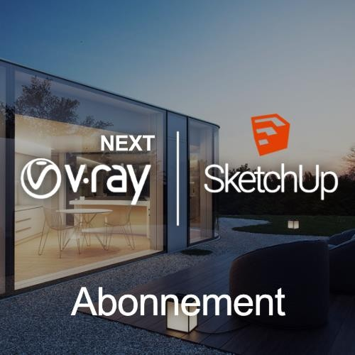 V-Ray Next for SketchUp Win, looptijd 1 maand